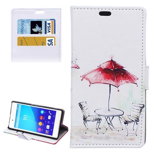 Street Background Pattern Horizontal Flip Magnetic Buckle Leather Case for Sony Xperia Z4 (Pattern 2)