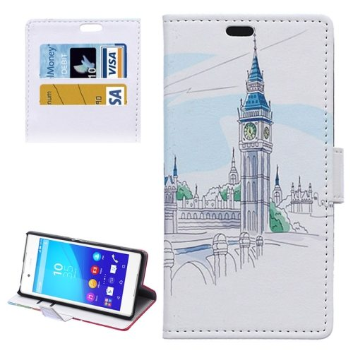 Street Background Pattern Horizontal Flip Magnetic Buckle Leather Case for Sony Xperia Z4 (Pattern 3)