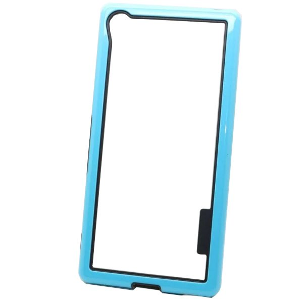 Dual Color 2 in 1 Pattern TPU and PC Bumper Frame Case for Sony Xperia Z4 (Blue)