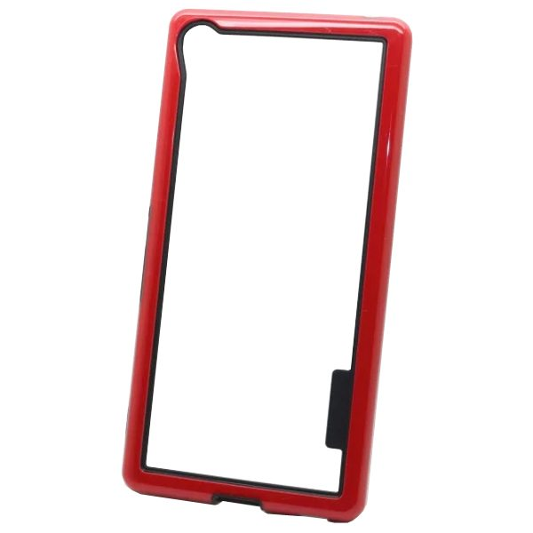Dual Color 2 in 1 Pattern TPU and PC Bumper Frame Case for Sony Xperia Z4 (Red)