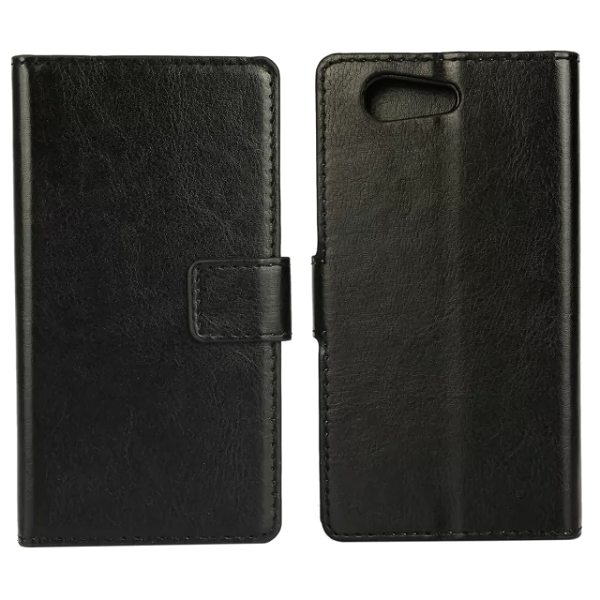Crazy Horse Texture Flip Wallet Style Leather Case Cover for Sony Xperia Z4 with Card Slots (Black)