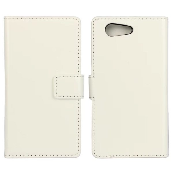 Crazy Horse Texture Flip Wallet Style Leather Case Cover for Sony Xperia Z4 with Card Slots (White)