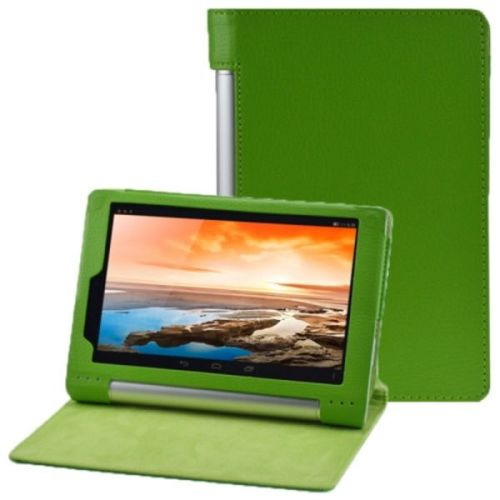 Litchi Texture Flip Leather Case for Lenovo Yoga Tablet 8 B6000 (Green)