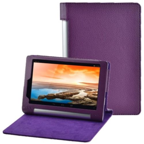 Litchi Texture Flip Leather Case for Lenovo Yoga Tablet 8 B6000 (Purple)