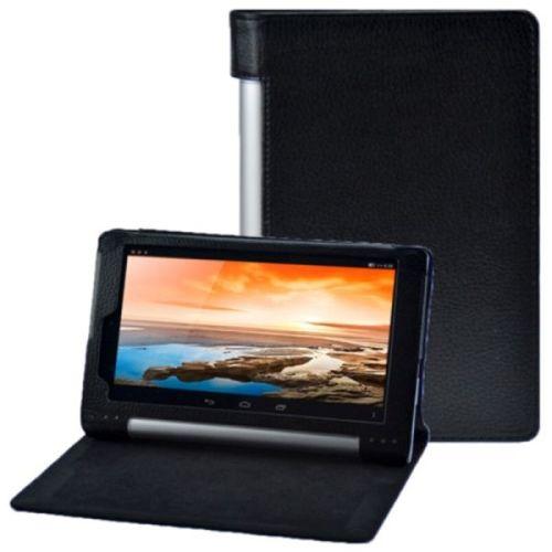 Litchi Texture Flip Leather Case for Lenovo Yoga Tablet 8 B6000 (Black)