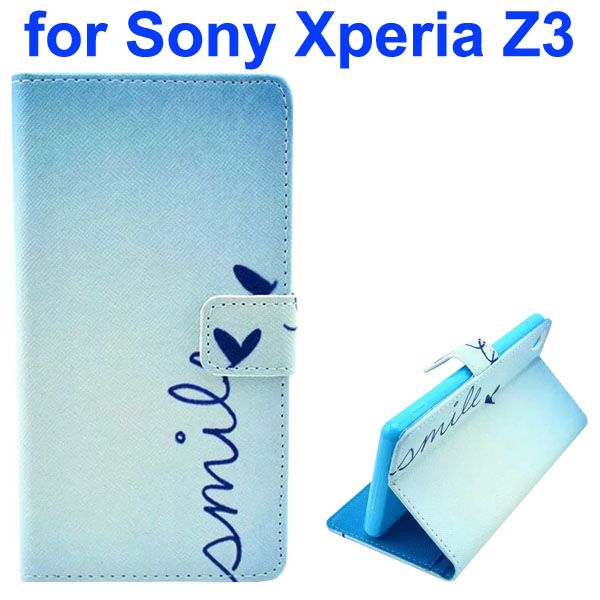 3D Color Printing Craft Cross Texture Wallet Flip Leather Case for Sony Xperia Z3 (Pure Life)
