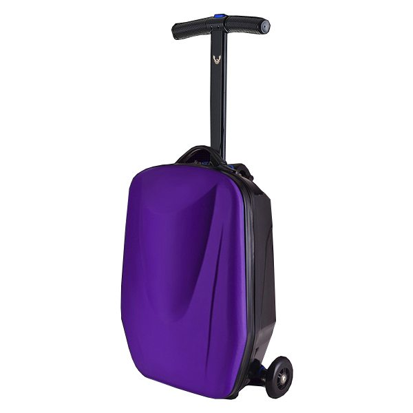 Rolling Multifunctional  Wheel Scooter Suitcase Luggage Scooter for Business Travel (Purple)