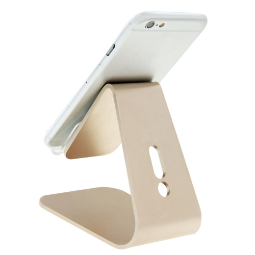Universal Micro-suction Aluminum Alloy Stand for for iPhone/ iPad/ Samsung/ HTC/ Nokia/ LG Mobile Phone or Tablet PC (Gold)