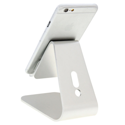 Universal Micro-suction Aluminum Alloy Stand for for iPhone/ iPad/ Samsung/ HTC/ Nokia/ LG Mobile Phone or Tablet PC (Silver)
