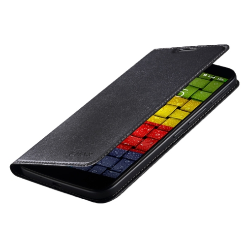 UMI PU Flip Leather Phone Case for UMI eMAX Phone with Nice Package (Black)