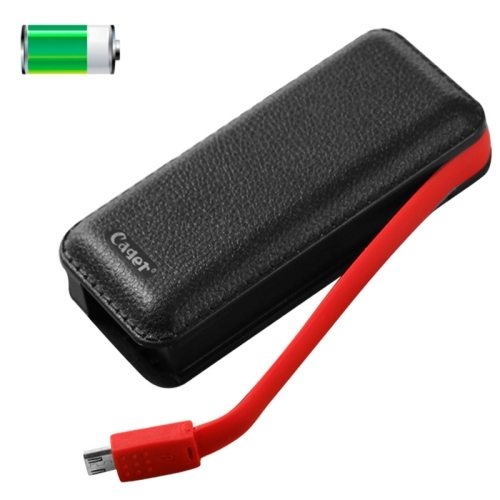Cager B069 Portable Universal 5000mAh USB Smart Mobile Power Bank External Battery for iPhone / Samsung / HTC / LG (Black)