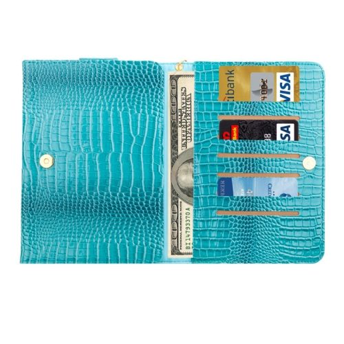 8.0 Inch Universal Crocodile Texture Case for ipad mini 1 / 2 / 3 with Wallet & Card Slots (Green)