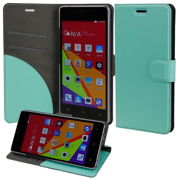 Wallet Case Flip Cover for BLU Vivo Air with Stand and Pockets for ID and Credit Cards (Green)