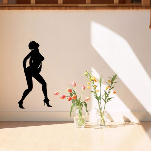Wall Decor Sexy Woman Outline Removable Wall Sticker, Size: 60cm x 29cm