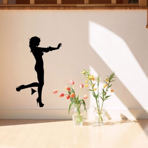Wall Decor Sexy Woman Outline Removable Wall Sticker, Size: 60cm x 40cm