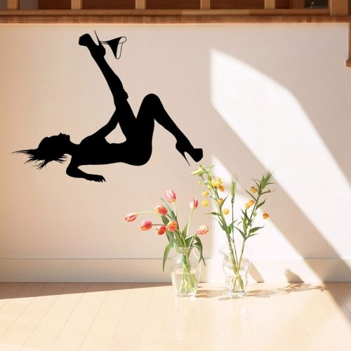 Wall Decor Sexy Woman Outline Removable Wall Sticker, Size: 60cm x 70cm