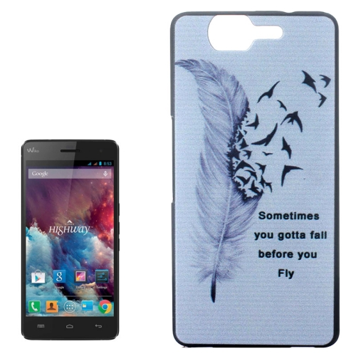 Ultrathin Hard PC Protective Back Case for Wiko Highway (Words and Flying Birds Pattern)