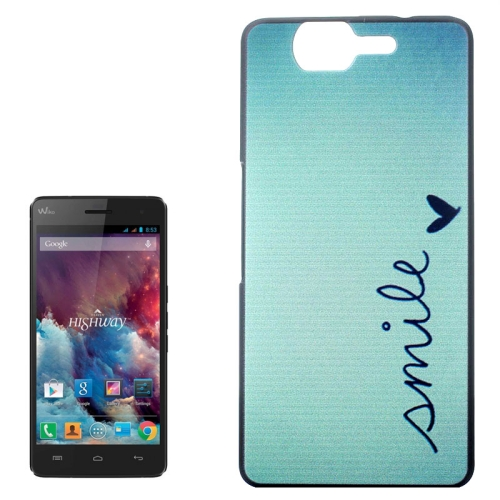 Ultrathin Hard PC Protective Back Case for Wiko Highway (Smile Word Pattern)