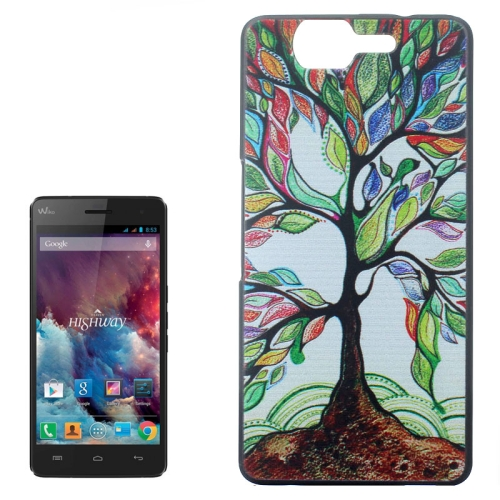 Ultrathin Hard PC Protective Back Case for Wiko Highway (Abstract Tree Pattern)
