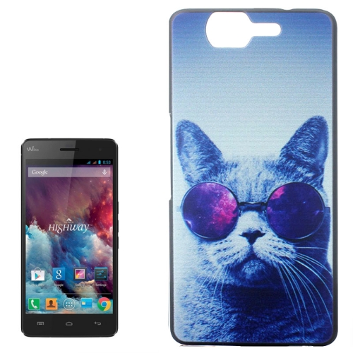 Ultrathin Hard PC Protective Back Case for Wiko Highway (Cool Cat Pattern)