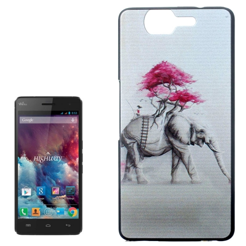 Ultrathin Hard PC Protective Back Case for Wiko Highway (Elephant and Tree Pattern)