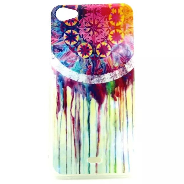 Ultrathin IMD Craft Soft TPU Protective Back Cover Case for Wiko Jimmy (Colorful Ring)