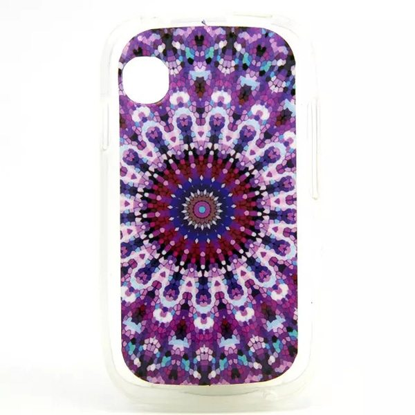 IMD Craft Ultrathin Soft TPU Protective Back Cover for Wiko Ozzy (Kaleidoscope Pattern)