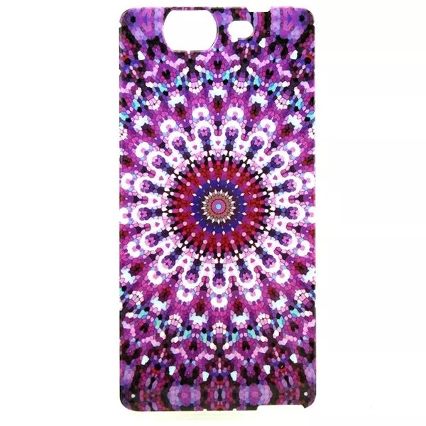 Ultrathin IMD Craft Soft TPU Protective Back Cover Case for Wiko Highway (Kaleidoscope Pattern)