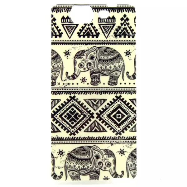 Ultrathin IMD Craft Soft TPU Protective Back Cover Case for Wiko Highway (Elephant Pattern)