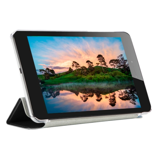 3-folding Pattern Ultrathin Flip Protective Leather Case for CUBE T7 Tablet PC with Stand (Black)
