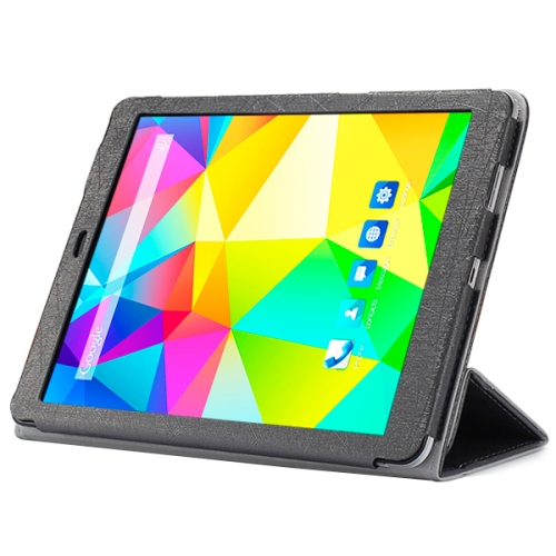 3-folding Pattern Ultrathin Folio Protective Leather Cover for CUBE T9 Tablet PC (Black)