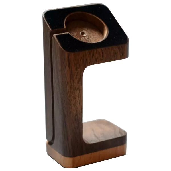 High Quality Wood Material Charging Dock Station for Apple Watch (Black Walnut+Beech)