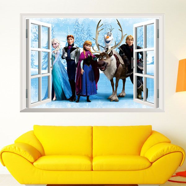 60x45cm Removable Decorative PVC DIY Wall Sticker (Movie Frozen)