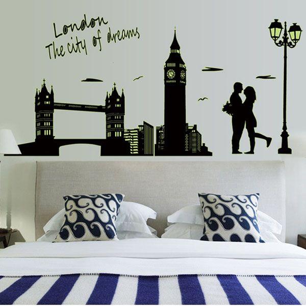 The Dream City London Series Creative Luminous Style DIY PVC Wall Sticker (Size 25*44cm)