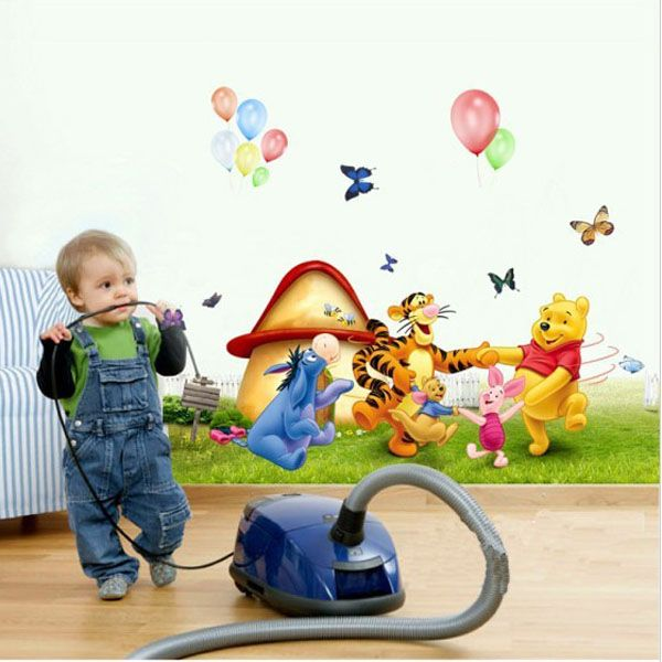 Winnie the Pooh Series Removable PVC Backgroung Wall Sticker