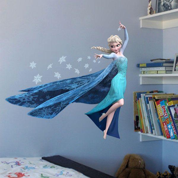 Frozen Film Elsa Design Creative Vivid DIY PVC Wall Sticker for Decoration (Size: 62*60cm)