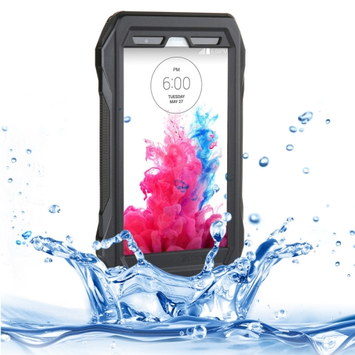 IP68 Waterproof Protective Case for LG G3 with HD Screen Guard (Black)