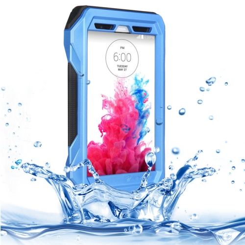 IP68 Waterproof Protective Case for LG G3 with HD Screen Guard (Blue)