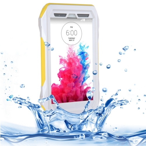 IP68 Waterproof Protective Case for LG G3 with HD Screen Guard (Yellow)