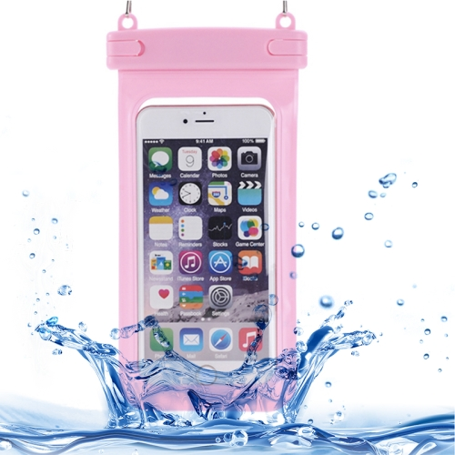 Universal IPX8 Certified to 10m Waterproof Case for iPhone 6 with Touch Responsive Front and Lanyard (Pink)