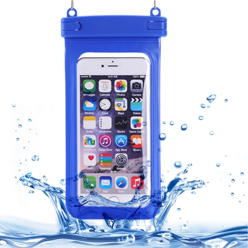 Universal IPX8 Certified to 10m Waterproof Case for iPhone 6 with Touch Responsive Front and Lanyard (Blue)