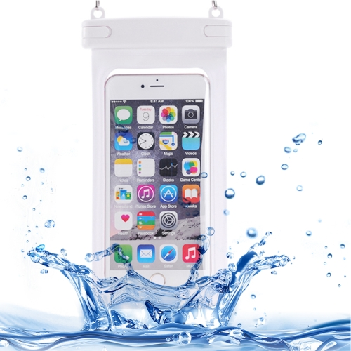 Universal IPX8 Certified to 10m Waterproof Case for iPhone 6 with Touch Responsive Front and Lanyard (White)