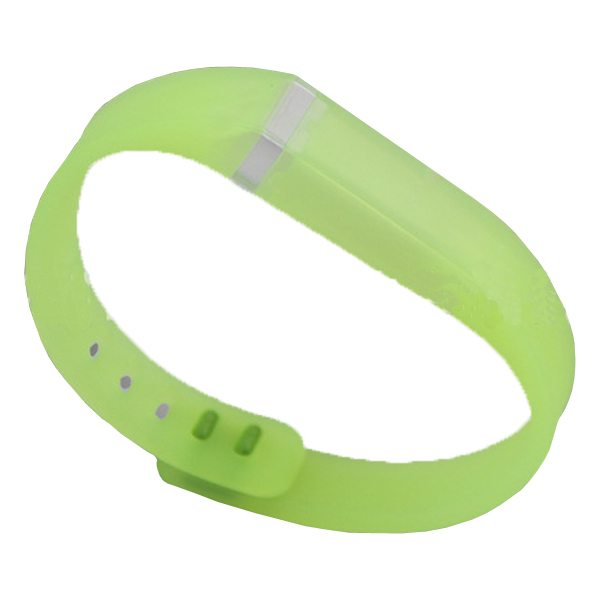 Transparent Style Replacement Wristband for Fitbit Flex with Aluminum Clasp (Green)