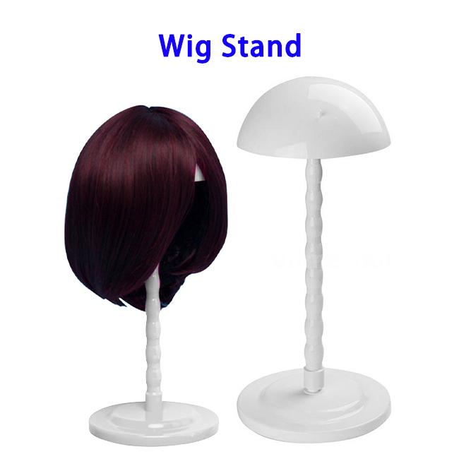 New Arrival Lightweight Adorable Mashroom-Shape Plastic Wig Stand for Both Long and Short Wigs(White)
