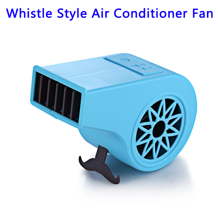 New Design Mini Whistle Style Air Conditioner Fan for Summer (Blue)