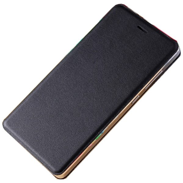 Official Type Scratch-resistant Wallet Flip Leather Sleep / Wake-Up Smart Cover for Xiaomi M4 (Black)