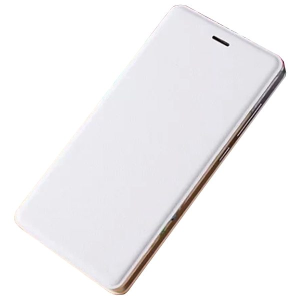 Official Type Scratch-resistant Wallet Flip Leather Sleep / Wake-Up Smart Cover for Xiaomi M4 (White)