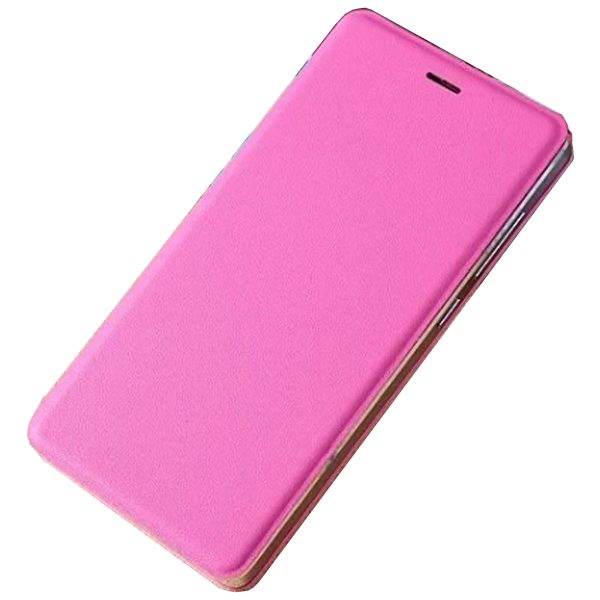 Official Type Scratch-resistant Wallet Flip Leather Sleep / Wake-Up Smart Cover for Xiaomi M4 (Rose)