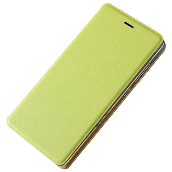 Official Type Scratch-resistant Wallet Flip Leather Sleep / Wake-Up Smart Cover for Xiaomi M4 (Lime)