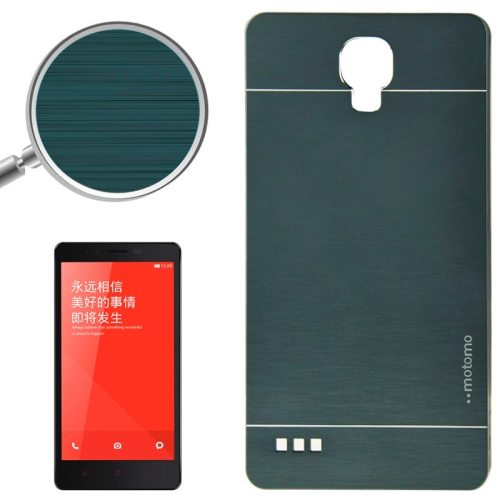 Brushed Texture Metal & Plastic Protective Case for Xiaomi Redmi Note(Deep Green)